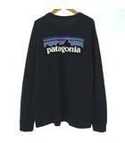 パタゴニア Patagonia 38518 ロングスリーブ P-6 ロゴ レスポンシビリティー Tシャツ ロンT カットソー 長袖 プリント レギュラーフィット ネイビー 紺 M