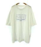 マルタンマルジェラ Martin Margiela 10 20SS 美品 オーバーサイズ ナンバーロゴ Tシャツ カットソー クルーネック 半袖 ホワイト 白 48 S30GC0696 THK0711