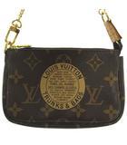 ルイヴィトン LOUIS VUITTON 美品 M60153 TRUNKS&BAGS T&B モノグラム ミニ ポシェット アクセソワール ポーチ ブラウン 茶