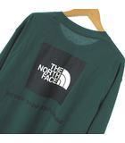 20AW NT82035 L/S BACK SQUARE LOGO TEE ロングスリーブ バック スクエアロゴ ティー Tシャツ ロンT カットソー ボックスロゴ プリント 長袖 エバーグリーン 緑 L