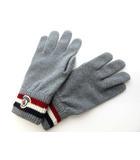 モンクレール MONCLER GUANTI ニット 手袋 00549 00 02292 男女兼用 トリコロール グレー 0303