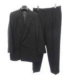 五大陸 gotairiku スーツ セットアップ ダブル テーラード 秋冬 6L 黒 ブラック 0318