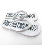 エンポリオアルマーニ EMPORIO ARMANI ビーチ トング サンダル ブランドロゴ EU 42 26cm位 白 ホワイト 0417 IBS14