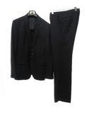 エポカ ウォモ EPOCA UOMO シングル 2B スーツ フォーマル 上下 セットアップ ウール ジャケット パンツ スラックス 48/50 黒 ブラック 春夏 0421 IBS14