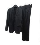 エポカ ウォモ EPOCA UOMO スーツ フォーマル シングル 2B ストライプ ジャケット パンツ スラックス セットアップ 背抜き 春夏秋 48 紺 ネイビー 0420 IBS14