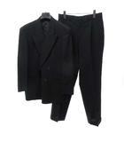 ダーバン DURBAN ダブルスーツ セットアップ ジャケット タックパンツ スラックス 94 AB4 黒 ブラック 背抜き 春夏 0410 IBS14