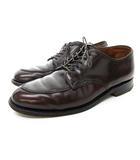 オールデン ALDEN leather soul別注 8798 コードバン Vチップ レザー シューズ 革靴 ビジネス フォーマル 7D 25cm位 バーガンディ 茶 ブラウン 0430