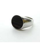 ディオールオム Dior HOMME 925 ウッドリング 指輪 シルバー 茶 ブラウン 65 0515