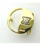 セリーヌ CELINE ロゴ サークル バックル トップ式 ゴールドカラー イタリア製 0524