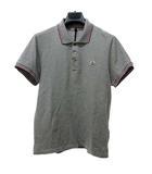 モンクレール MONCLER MAGLIA POLO MANICA CORTA ポロシャツ Tシャツ カットソー 鹿の子 半袖 トリコロール グレー S 0524