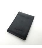 マーガレットハウエル MARGARET HOWELL レザー パスケース 定期入れ カードケース 黒 ブラック 0528