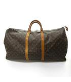 ルイヴィトン LOUIS VUITTON キーポル 60 M41422 モノグラム PVC×レザー ボストン バッグ 旅行鞄 トラベルバッグ 茶 ブラウン 0608