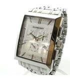 バーバリー BURBERRY BU1326 クロノグラフ クォーツ 腕時計 SS カレンダー付 シルバーカラー 0618