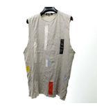 ラフシモンズ RAF SIMONS SPRING-SUMMER 2007 アーカイブ 名作 国内正規 ノースリーブ Tシャツ タンクトップ 切替 パッチワーク カットオフ グレー 46 0729