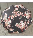 インゲボルグ INGEBORG 日傘 花柄 コットン 黒 0330 NST