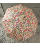 ピンクハウス PINK HOUSE 日傘 花柄 薔薇 コットン ウッド手元 青紫 0331 NST