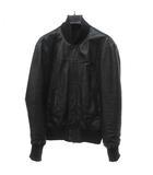 アタッチメント ATTACHMENT ラムレザー ジャケット ブルゾン ライダース 黒 ブラック 1 Sサイズ位 1113