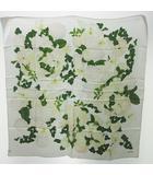 シャネル CHANEL シルク スカーフ 花柄 カメリア 椿 紫陽花 百合 白 ホワイト 0708 KKK1