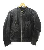 ルイスレザー LEWIS Leathers 70's ヴィンテージ ライダース シングル ファントム ジャケット エルボーパッチ ショルダーパッチ 黒 ブラック 38サイズ 0912 IBS74