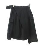 コムデギャルソン COMME des GARCONS ヴィンテージ ウール ラップ スカート 膝丈 黒 ブラック S 1121