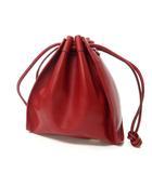グッチ GUCCI ヴィンテージ レザー ショルダーバッグ 巾着 肩掛け 001-2113-1665 赤 レッド 1217