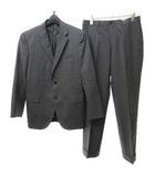 シングル 3B段返り ビジネス スーツ フォーマル グレー イタリア製 36-S  0110 NVW