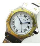 動作品 サントス オクタゴン AC 9.80 自動巻き オートマチック 腕時計 SS×YG コンビ シルバー×ゴールド 0216