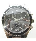 H375120 ジャズマスター ビュー クロノ 腕時計 黒文字盤 シルバー 0218