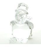 バカラ Baccarat 美品 スノーマン スキー クリスタルガラス フィギュリン 置物 0326