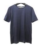 エルメス HERMES 国内正規品 マルジェラ期 Tシャツ カットソー 半袖 ロゴ 袖刺繍 紫系 パープル系 XS 0528
