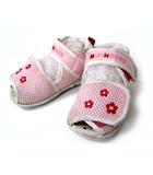 ミキハウス mikihouse ベビー サンダル メッシュ オープントゥ マジックテープ 花 フラワーポイント ピンク 13.5 子供靴 180905NM