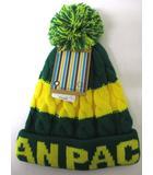 オーシャンパシフィック OCEAN PACIFIC ニットキャップ ニット帽 帽子 グリーン イエロー 緑 黄 F キッズ 子供服 181222IS