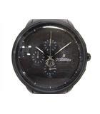 オロビアンコ OROBIANCO OR-0014 TEMPORALE タイムオラ テンポラーレ クロノグラフ クォーツ 腕時計 黒文字盤 ブラック 黒 190320NM5B