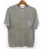 モンクレール MONCLER MAGLIA T-SHIRT Tシャツ カットソー ボーダー ロゴ 刺繍 切替 ポケット 半袖 マルチカラー M トップス 190403IS02B