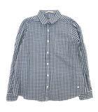 オリーブデオリーブ OLIVE des OLIVE ギンガムチェック シャツ カットソー 長袖 M 紺×白 レディース/10