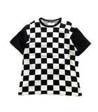 コムデギャルソンオム COMME des GARCONS HOMME 市松模様 チェッカー チェック Tシャツ カットソー 半袖 M 黒 白 メンズ