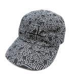 カシラ CA4LA JET CAP02 ジェット キャップ 帽子 5パネル 総柄 CKH00046 スポーツ アウトドア キャンプ ONE 黒 ブラック メンズ レディース