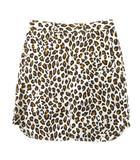 ミュベール muveil レオパード 豹柄 総柄 ハーフ タイト スカート MA41FS012 36 白×茶 レディース ※