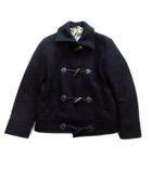 エディフィス EDIFICE ダッフル コート ジャケット ブルゾン ショート丈 ウール100% 38 黒 メンズ▼2