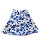 マークジェイコブス MARC JACOBS ドット フレア スカート 膝丈 2 ホワイト×マルチ 白 ネイビー 青 オレンジ レディース▼3※