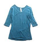アタッチメント ATTACHMENT Tシャツ カットソー 七分丈 無地 霜降り 2 緑 グリーン メンズ