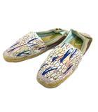 ツモリチサト TSUMORI CHISATO エスパドリーユ バブーシュ 総柄 スリッポン シューズ 靴 ジュート 43 マルチカラー メンズ レディース
