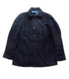 タカQ タカキュー TAKA-Q ステンカラー コート ジャケット ブルゾン チェック ウール LL ネイビー メンズ★4