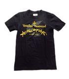 ヴィヴィアンウエストウッド Vivienne Westwood オーブ プリント Tシャツ カットソー ロゴ 38 黒 ブラック メンズ レディース