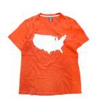 ナンバーナイン NUMBER (N)INE アメリカ大陸 プリント Tシャツ カットソー 国内正規 ベンチレーション 2 オレンジ 白 ホワイト メンズ※