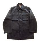 ポールスミス PAUL SMITH ステンカラー コート ジャケット ブルゾン 撥水加工 コットン L 黒 ブラック メンズ