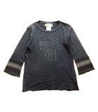 レミレリーフ REMI RELIEF NEW YORK CITY Tシャツ カットソー 七分丈 刺繍 ヴィンテージ加工 ダークグレー メンズ