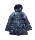 プロフィール PROFILE ダウン コート ジャケット ブルゾン フード セミロング 38 黒 ブラック レディース♪4