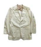 クリスチャンディオール Christian Dior 90's MONSIEUR シルク100% テーラード ジャケット ブレザー 背抜き 無地 オールド ビンテージ M ライトベージュ メンズ※