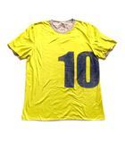 """メゾンマルジェラ """"10"""" プリント リバーシブル Tシャツ カットソー ここのえ アーカイブ 無地 48 イエロー ブラウン メンズ"""